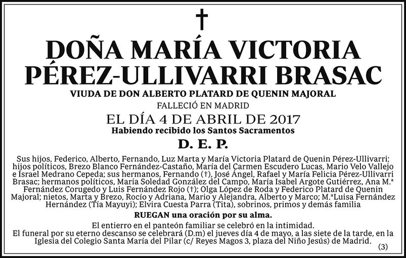 María Victoria Pérez-Ullivarri Brasac